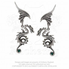 Bestia Regalis Earrings by Alchemy England - Flying Dragon