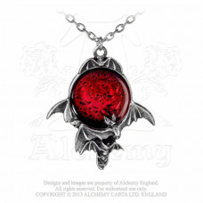 Blood Moon Pendant by Alchemy England - Bats and Moon