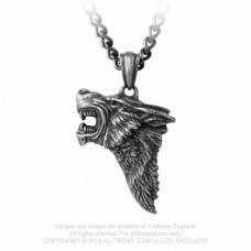 Dark Wolf Pendant by Alchemy England - Wolf's Head