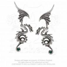 Bestia Regalis Earrings by Alchemy England - Flying Dragon