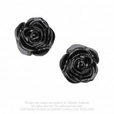 Romance of Black Rose Earrings from Alchemy England