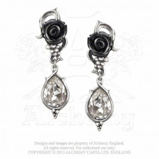 Bacchanal Rose Earrings from Alchemy England - Roses and Grapes