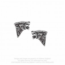 -Dark Wolf Studs Earrings by Alchemy England