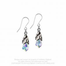 Empyrean Tear Earrings from Alchemy England - Tears from Heaven in Crystal AB