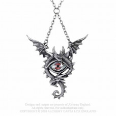 Eye of the Dragon Necklace by Alchemy England - Dragon with Crystal Eye