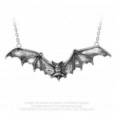 Gothic Bat Necklace by Alchemy England - Flying Bat