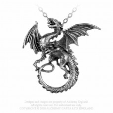 Whitby Wyrm Pendant by Alchemy England - Flying Dragon