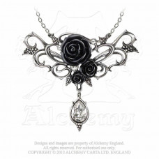 Bacchanal Rose Necklace by Alchemy England - Roses and Grapes
