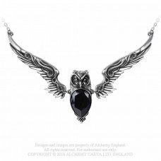 Stryx Necklace by Alchemy England with Flying Owl