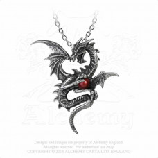 Aethera Draconem Pendant by Alchemy England - Dragon with Pearl