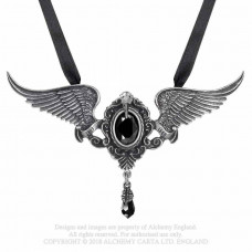 My Soul From the Shadow Necklace by Alchemy England - the Raven by Poe
