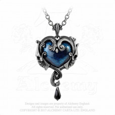 Affaire du Coeur Pendant by Alchemy England - Heart with Skulls