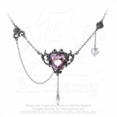 Countess Kamila Necklace by Alchemy England - Crystal Heart