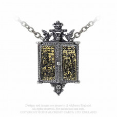 Balkan Triptych Icon Locket Necklace by Alchemy England — Dracula Pendant
