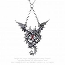 Eye of the Dragon Necklace by Alchemy England - Dragon with Crystal Eye