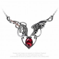 Maiden's Conquest Necklace by Alchemy England - Unicorn and Heart
