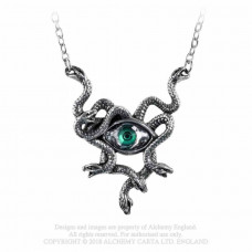 Gorgon's Eye Necklace by Alchemy England - Snakes with Crystal Eye