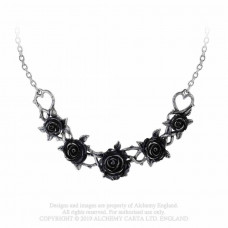 Rose Briar Choker Necklace by Alchemy England - Black Roses Garland