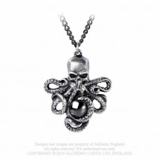 Mammon of the Deep Pendant by Alchemy England - Skull Octopus