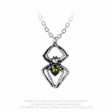 Emerald Venom Spiderling Pendant by Alchemy England - Crystal Spider