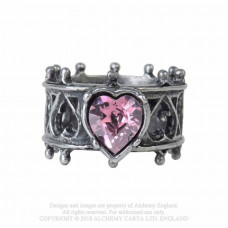 Elizabethan Ring by Alchemy England in size N - Tudor Hearts
