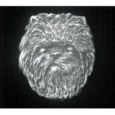 Affenpinscher in Heart Brooch No. D114HDLGHRT-B