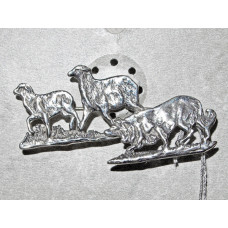 Border Collie Brooch No. b17017 Dog with Two Sheep