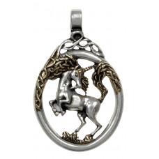 Unicorn Pendant for Virtuous Spirit - Celtic Unicorn