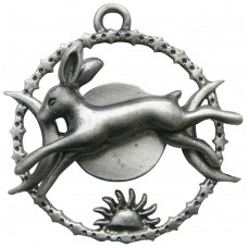 Celestial Hare Pendant for Quick Thinking - Hare with Sun and Moon
