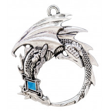 Ouroborous Pendant for Renewal - Dragon with Moon