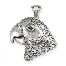 African Grey Parrot Charm No. AFG02X-P - Bird