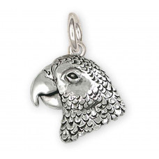 African Grey Parrot Charm No. AFG3X-C