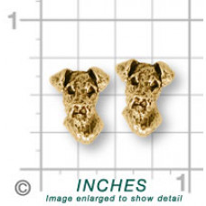 Airedale Terrier Earrings No. AR07-E