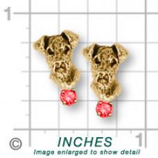 Airedale Terrier Earrings No. AR07-SE