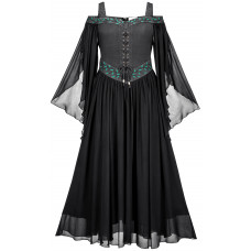 Acacia Maxi Medieval Dress in size S - 5X and in six colors