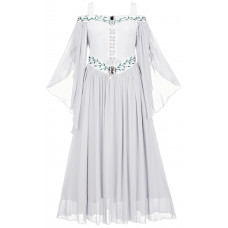 Acacia Maxi Medieval Dress in size S - 5X in White Ivory