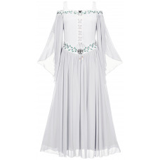 Acacia Maxi Tall Medieval Dress in size S - 5X in White Ivory