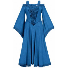 Aisling Maxi Tall Medieval Dress size L in Blue Divine