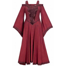 Aisling Maxi Tall  Medieval Dress size M in Burgundy Wine