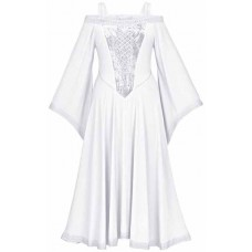 Aisling Maxi Medieval Dress size L in White Ivory