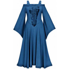 Aisling Maxi Tall Medieval Dress size XL in Sapphire Blue