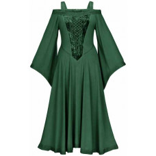 Aisling Maxi Tall  Medieval Dress size L in Forest Green