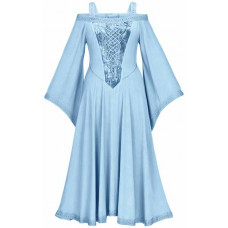 Aisling Maxi Medieval Dress size 2X in Blue Hydrangea