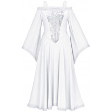 Aisling Maxi Medieval Dress in size S - 5X in White Ivory.