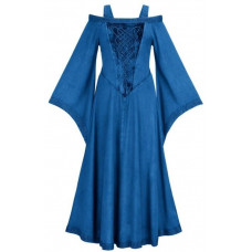 Aisling Maxi Tall  Medieval Dress size 2X in Blue Divine