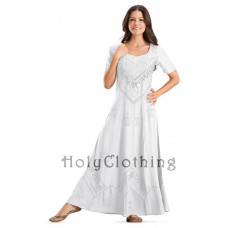Alexis Maxi Dress in size S - 5X in White Ivory