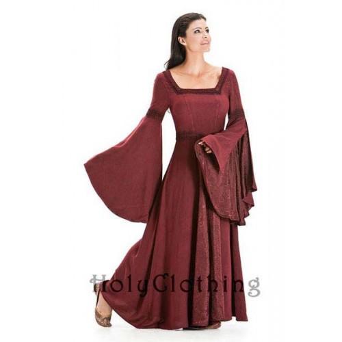 Beställ Arwen medeltida klänning med lång vid ärm från Unicorn ... 72df1b7ea062a