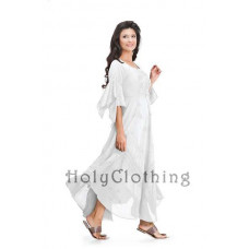 Belladonna Maxi Dress in size S - 5X in Ivory White