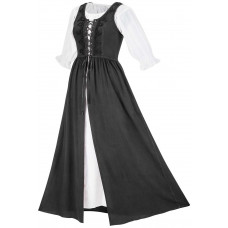 Brigid Maxi Medieval Two Piece Dress Set in size S-5X in six colors