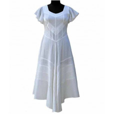 Caitlyn Maxi Dress in size S - 5X in Ivory White